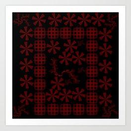 Diatom (Red series #4) Art Print