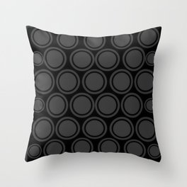 Black and Grey Circles | Mod Graphic Pattern #2 | Nadia Bonello | Canada Throw Pillow