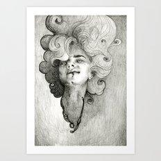 self portrait as a succubus Art Print