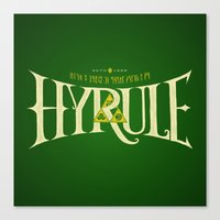 hyrule Canvas Prints featuring Hyrule Nation by Jango Snow