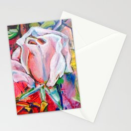 Pink Rose by Toni Wright Stationery Cards