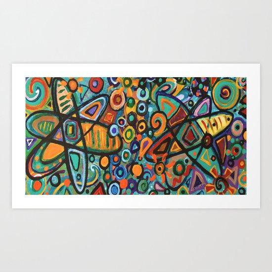 Molecular Structure Art Print