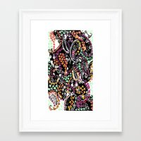 paisley Framed Art Prints featuring PAISLEY by  Ray Athi
