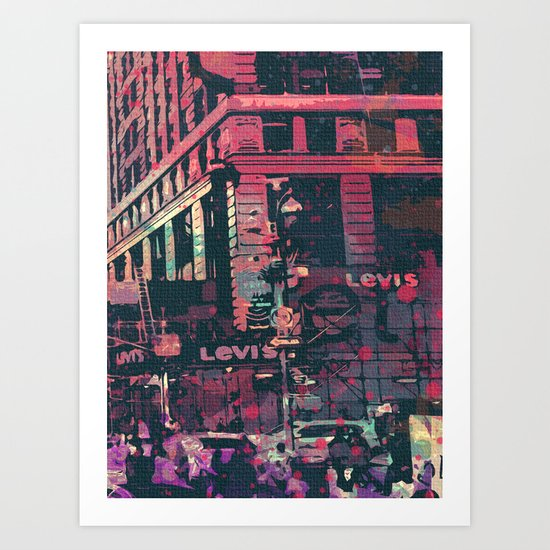 street of new york3 Art Print