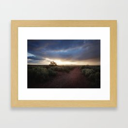 New Mexico Sunset Framed Art Print