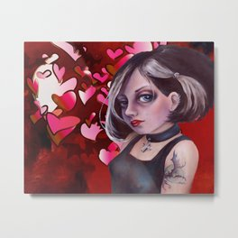 The Goth, Hearts Metal Print