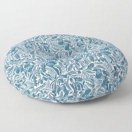 Folk Leaves Floor Pillow