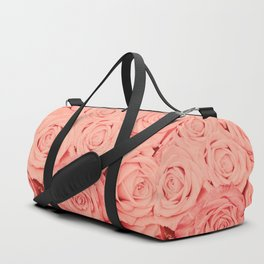 Some People Grumble - Living Coral Roses Duffle Bag