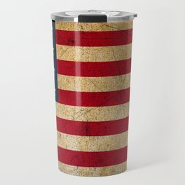 Vintage American Flag Travel Mug