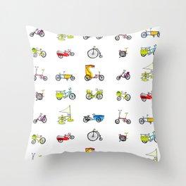 bikes! Throw Pillow