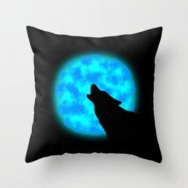 Howlin' Throw Pillow