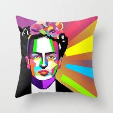 frida wpap Throw Pillow