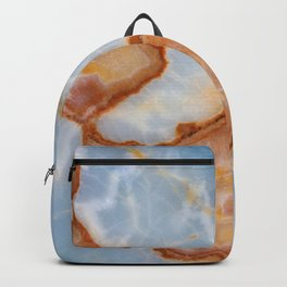 Baby Blue Marble with Rusty Veining Backpack