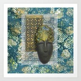 #3 Face & Metal Digital Collage Art Print