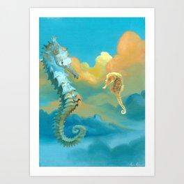 Sea Horses Art Print