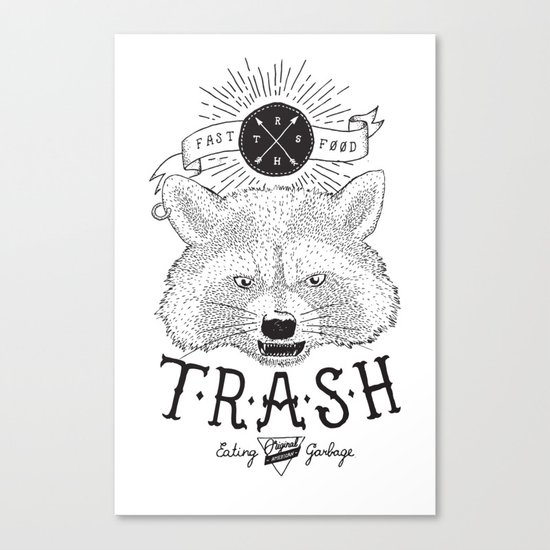 Eating trash Canvas Print