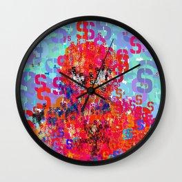 Spider Type Man - Abstract Pop Art Comic Wall Clock