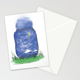 Jar full with skies  Stationery Cards