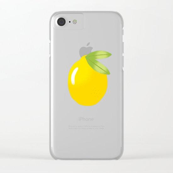 LEMON Clear iPhone Case
