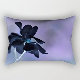 Black Magnolia Rectangular Pillow