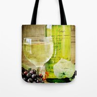 wine Tote Bags featuring Wine by ThePhotoGuyDarren