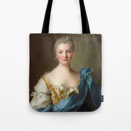 Madam de La Porte Portrait by Jean - Marc Nattier Tote Bag