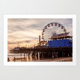 Santa Monica Pier Fun Art Print