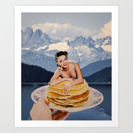 Pancake day Art Print