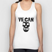 misfits Tank Tops featuring vegan misfits by sQuoze