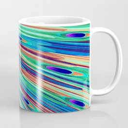 Peacock feather abstraction Coffee Mug
