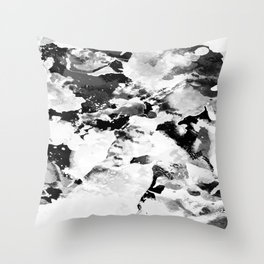 Blk Marble Throw Pillow