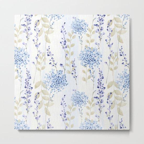 Delicate Floral Pattern 08 Metal Print