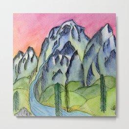 Sunset Mountains Metal Print