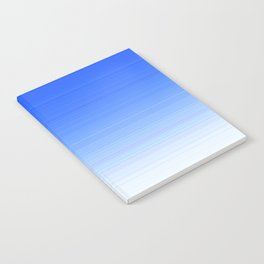 Sky Blue White Ombre Notebook