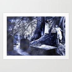 By Moon's Pale Light Art Print