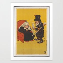 Paul Kruger offering Dum-dum pills to Queen Victoria Art Print