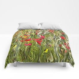Poisoned Poppies Comforters