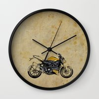 ducati Wall Clocks featuring Ducati Streetfighter 848, 2012 by Larsson Stevensem