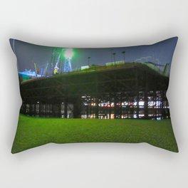 Blackpool South Pier At Night  Rectangular Pillow