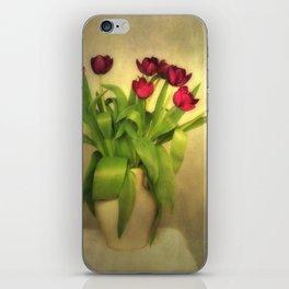 Glowing Tulips iPhone Skin