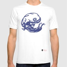 Slug skull MEDIUM White Mens Fitted Tee
