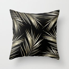 Tropical Leaves 6 Throw Pillow