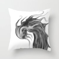 dragons Throw Pillows featuring Dragons by DragonsTime