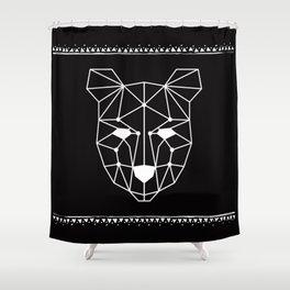 Totem Festival 2015 - White & Black Shower Curtain