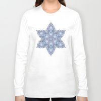 snowflake Long Sleeve T-shirts featuring Snowflake by Awispa