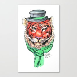 Tophat Tiger Canvas Print