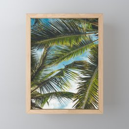 Palm leafs Framed Mini Art Print