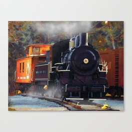 The Rail Yard  -  Steam Train Canvas Print