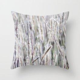Silver hair grass Throw Pillow