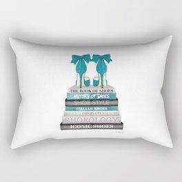 Books, Teal, Shoes, Fashion books, Fashion illustration, Fashion, Amanda Greenwood, watercolor, wall Rectangular Pillow